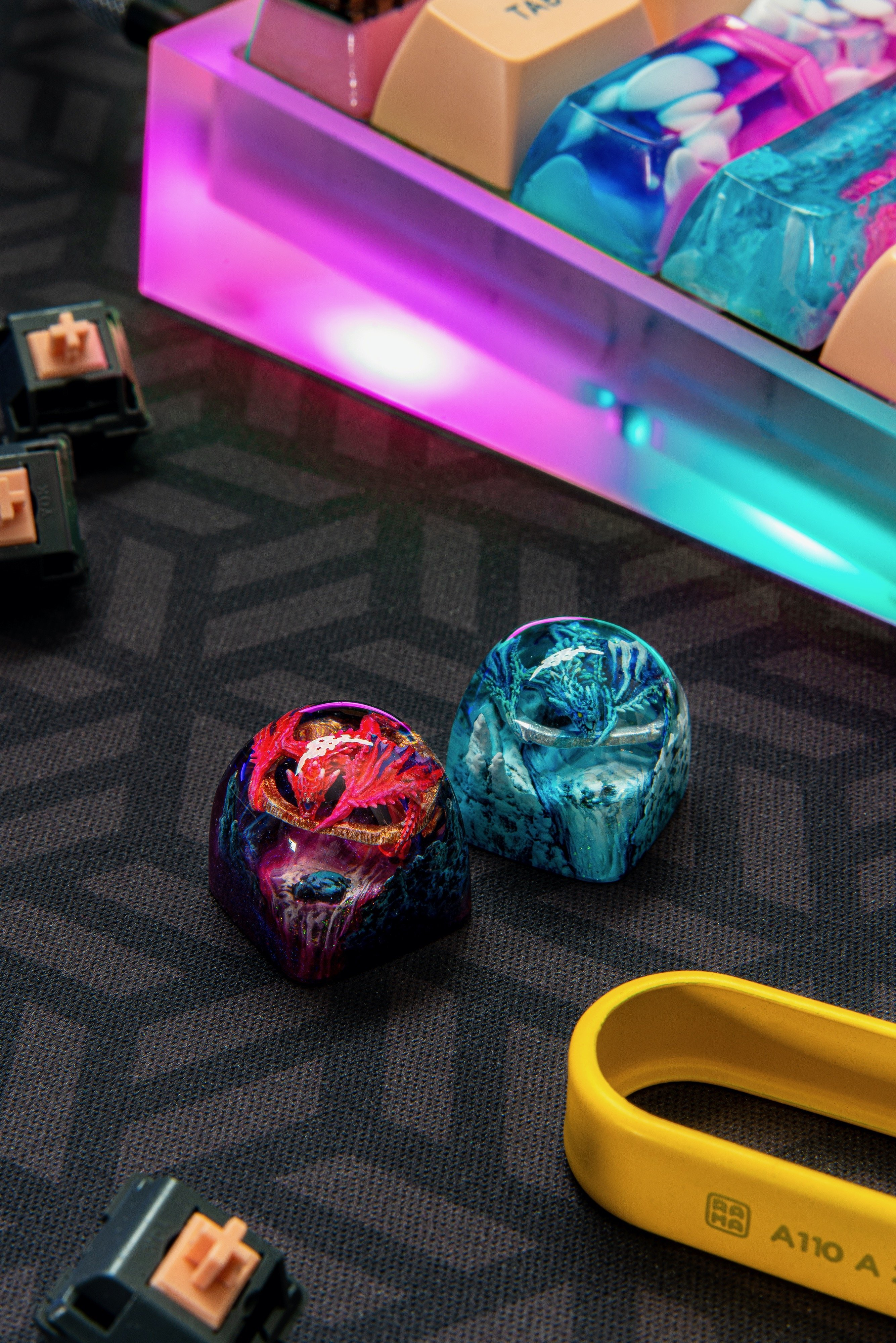 dwarf factory dragon keycaps